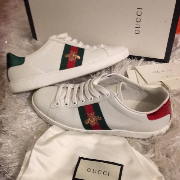 2f5596832f2 Gucci Shoes - Authentic Gucci Ace Sneakers with Bumble Bee
